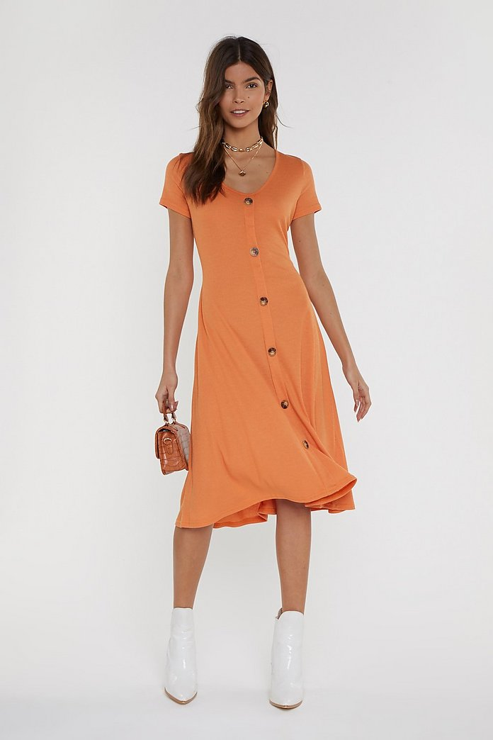 value for money original big clearance sale Hurry On Button-Down Midi Dress | Shop Clothes at Nasty Gal!