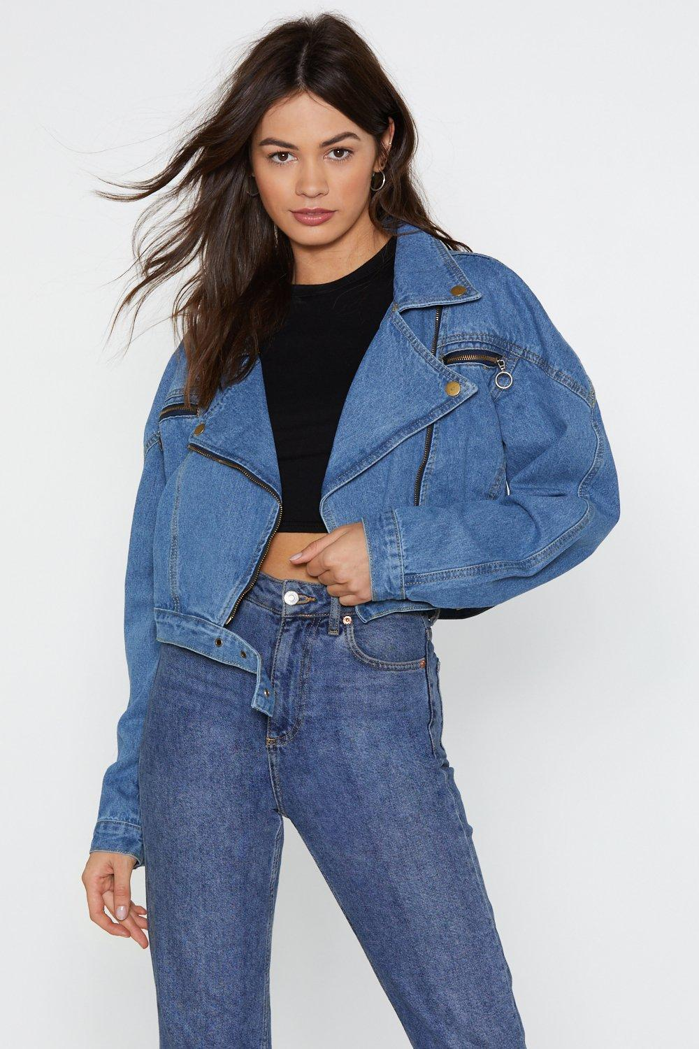20aebbe13a5 Nice Ride Denim Moto Jacket. Hover to zoom