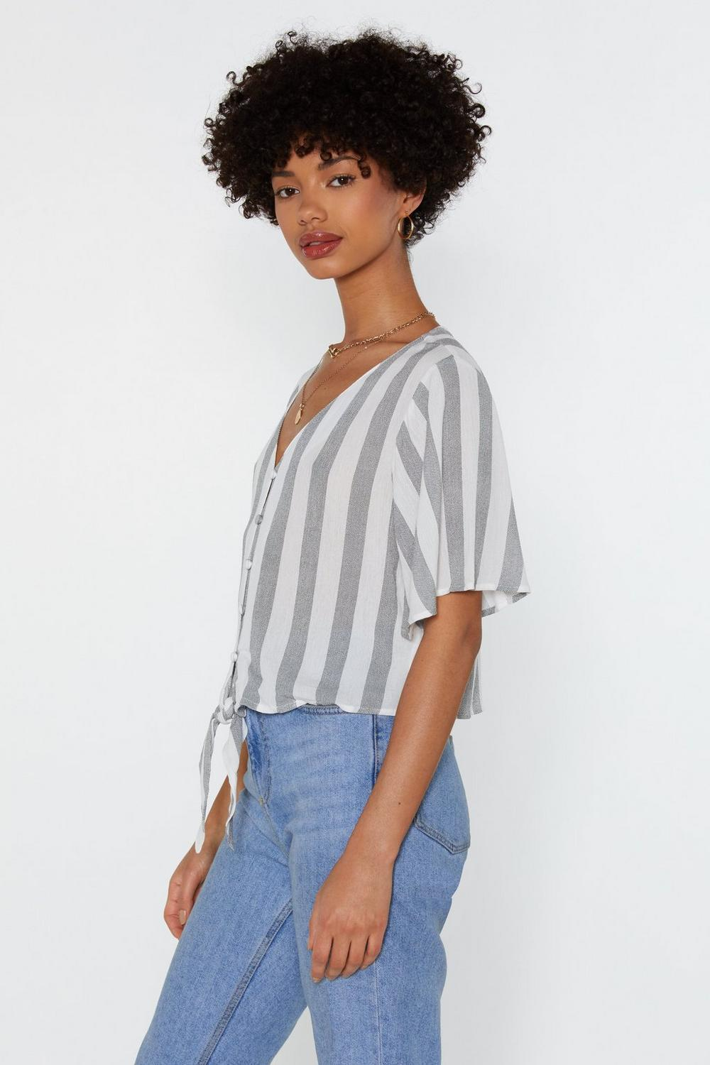 7d32c253969 Straighten Your Act Striped Blouse | Shop Clothes at Nasty Gal!