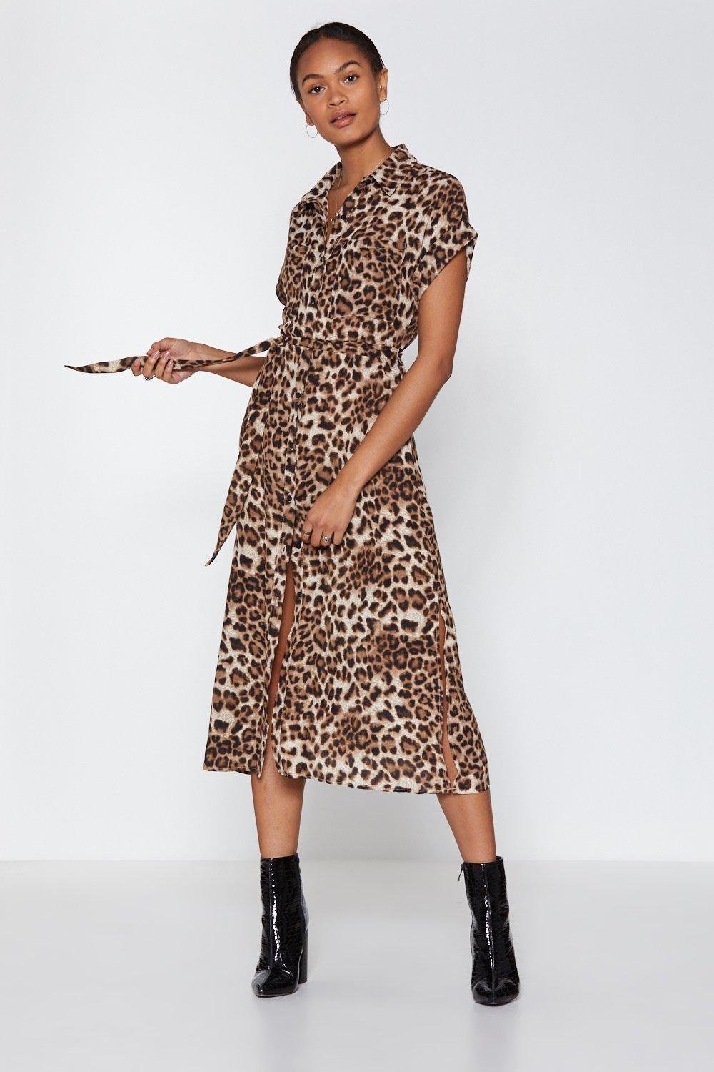 aed82bd3500 You Paw Thing Leopard Midi Dress | Shop Clothes at Nasty Gal!