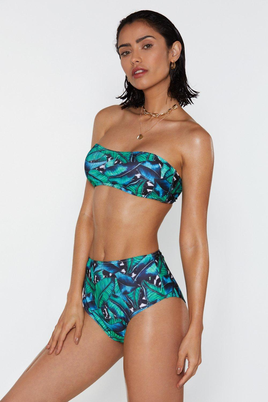 e2771792db075 Let's Keep It Palm Strapless Bikini Set | Shop Clothes at Nasty Gal!