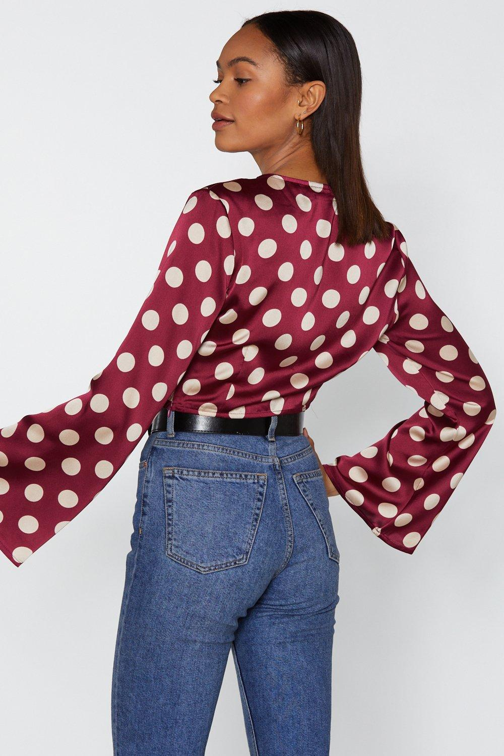 9930f847b0be2d Call the Dots Polka Dot Tie Top | Shop Clothes at Nasty Gal!