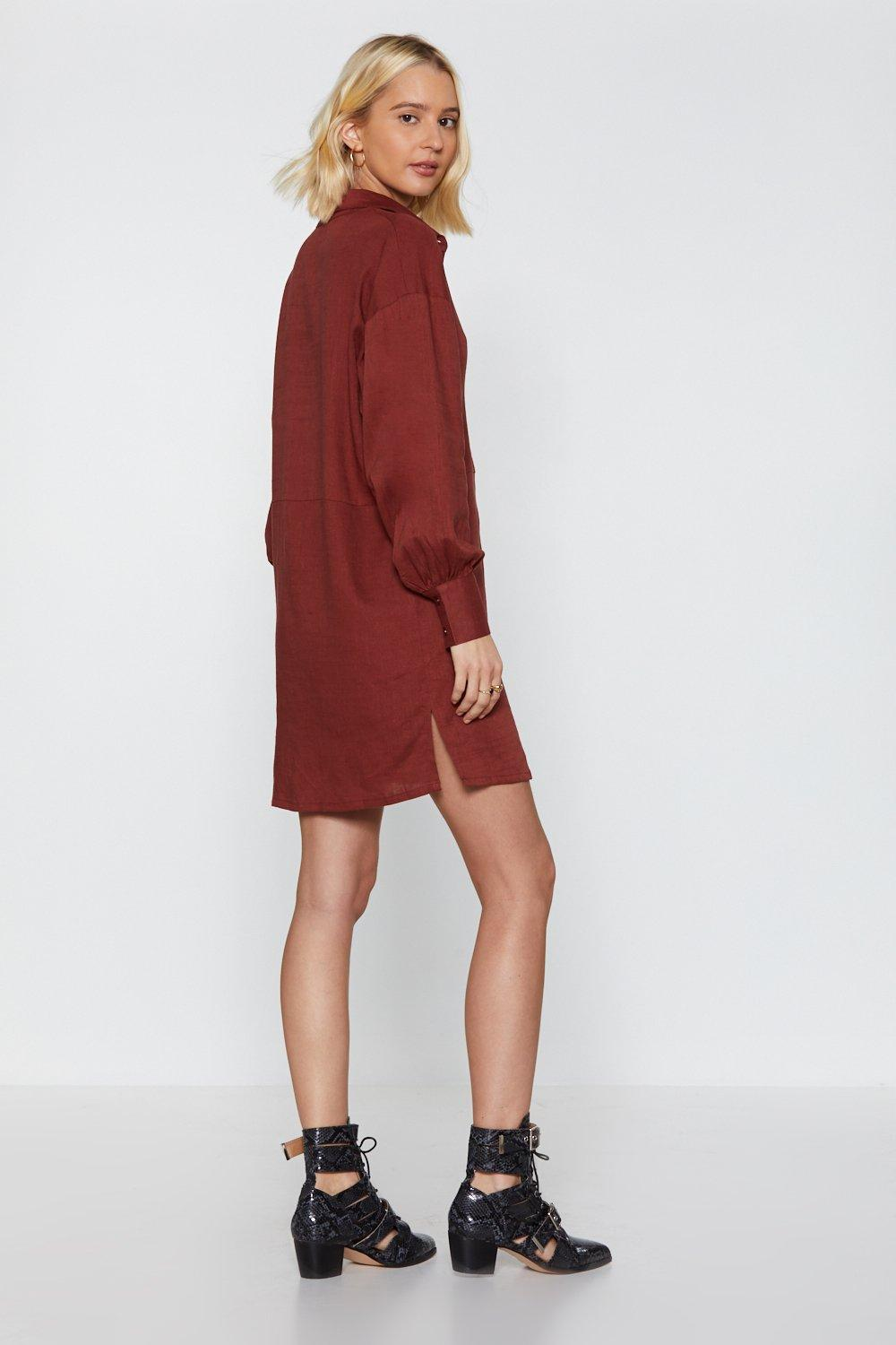 Long Story Shirt Linen Shirt Dress Shop Clothes At Nasty Gal