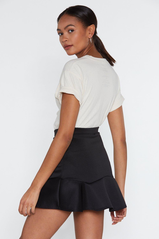 534b47ef7e Going Through a Ruffle Time Mini Skirt