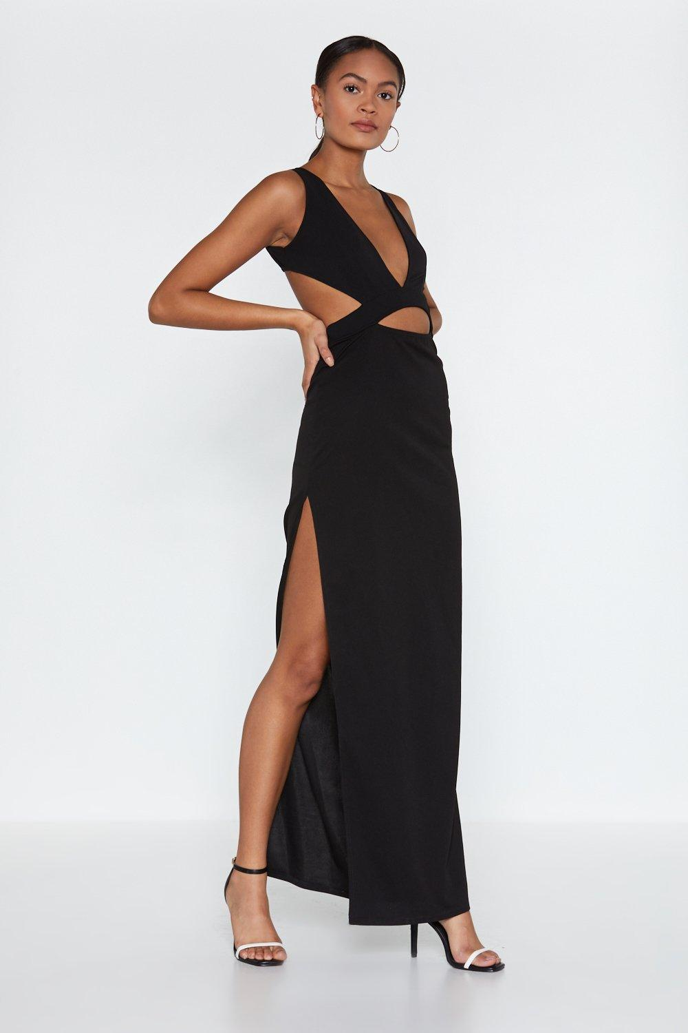 1dfdf2397bc Cut Corners Cut-Out Maxi Dress