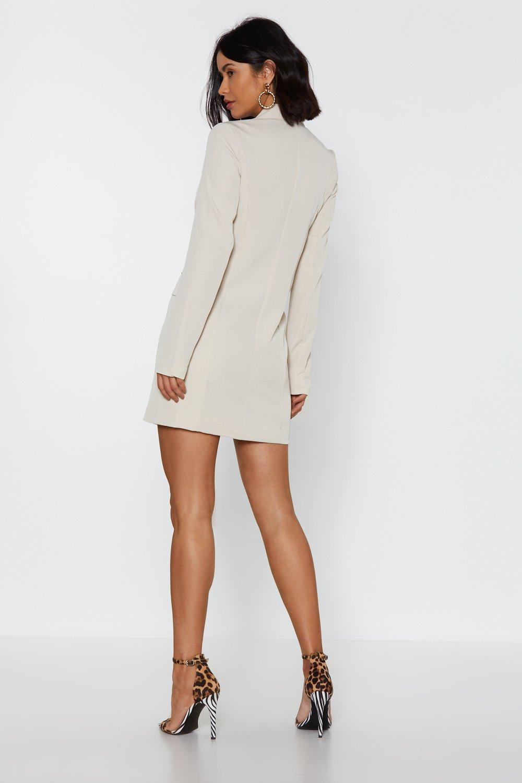 0b537e1168c Womens Stone I m Busy Mini Blazer Dress. Hover to zoom