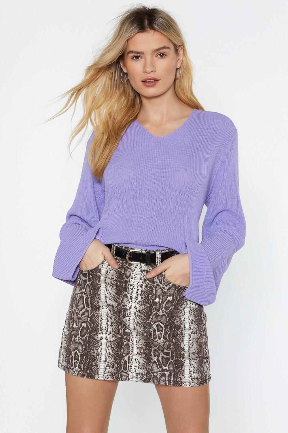 Knit Me Up V Neck Sweater by Nasty Gal