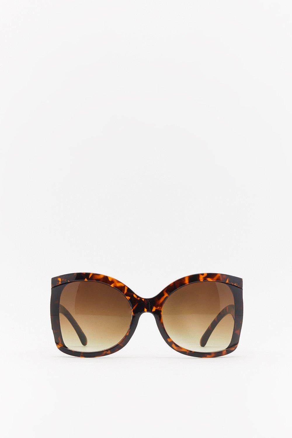 128e6cd6525de Womens Brown Bend the Rules Oversized Tortoiseshell Sunglasses. Hover to  zoom