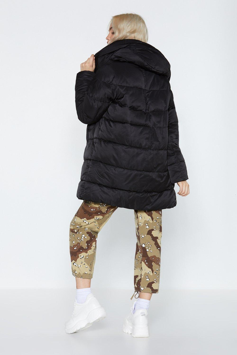 Pad At It Again Longline Coat by Nasty Gal