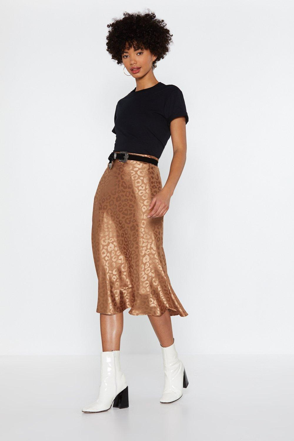 bde68f5e41 Learn the Leopard Way Satin Midi Skirt | Shop Clothes at Nasty Gal!