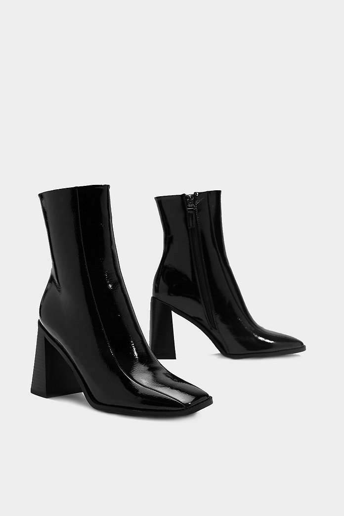 Square Up Patent Faux Leather Boot | Shop Clothes at Nasty Gal!