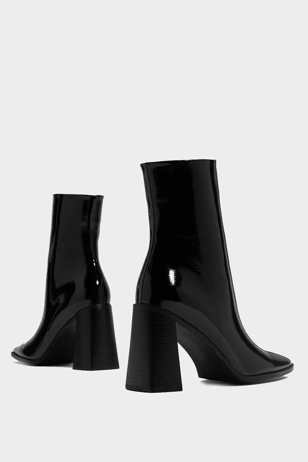 3addec12af44e Square Up Patent Faux Leather Boot | Shop Clothes at Nasty Gal!