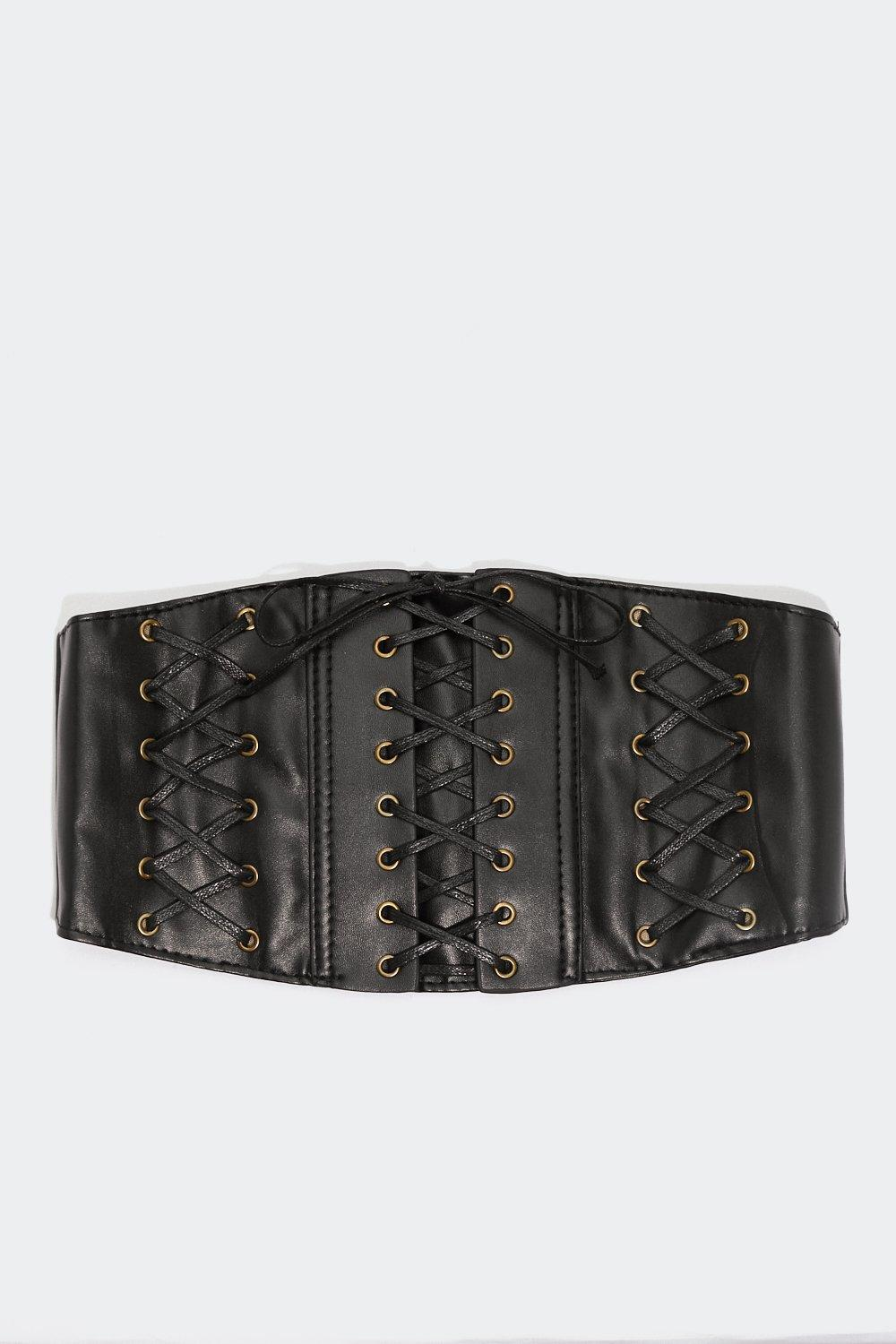 d0d1ae1afa Corset Is Faux Leather Belt