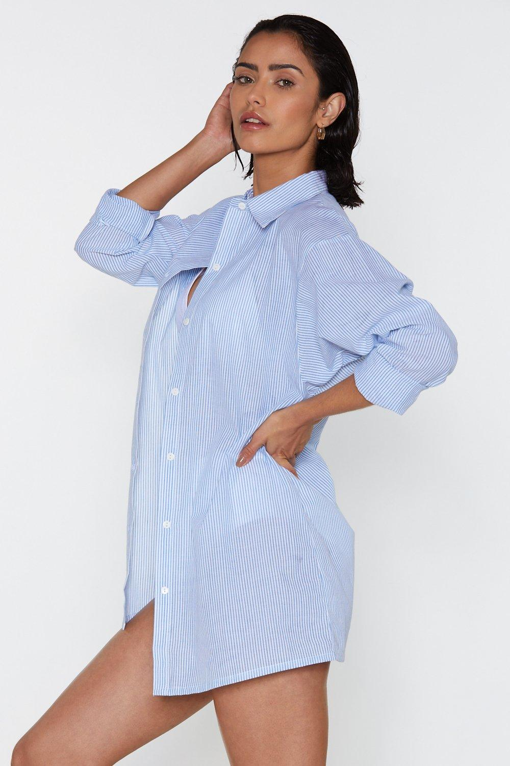 78b55175dffd8 Hard Day at the Beach Cover-Up Shirt | Shop Clothes at Nasty Gal!