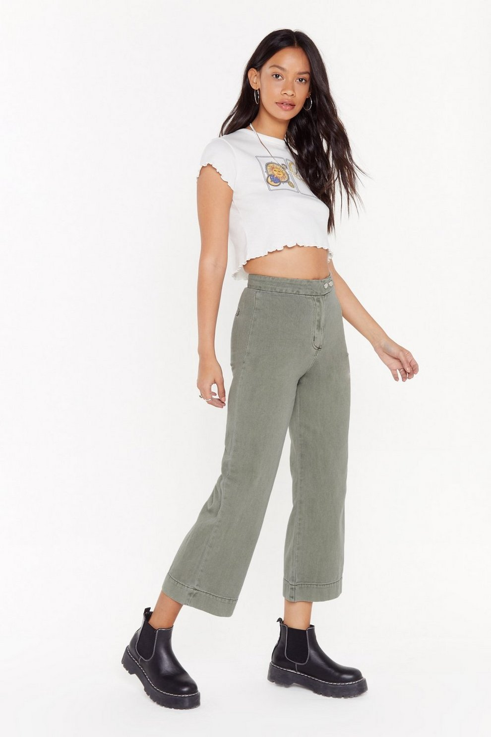 5343d0194bc5a Travel Far and Wide Culotte Jeans | Shop Clothes at Nasty Gal!