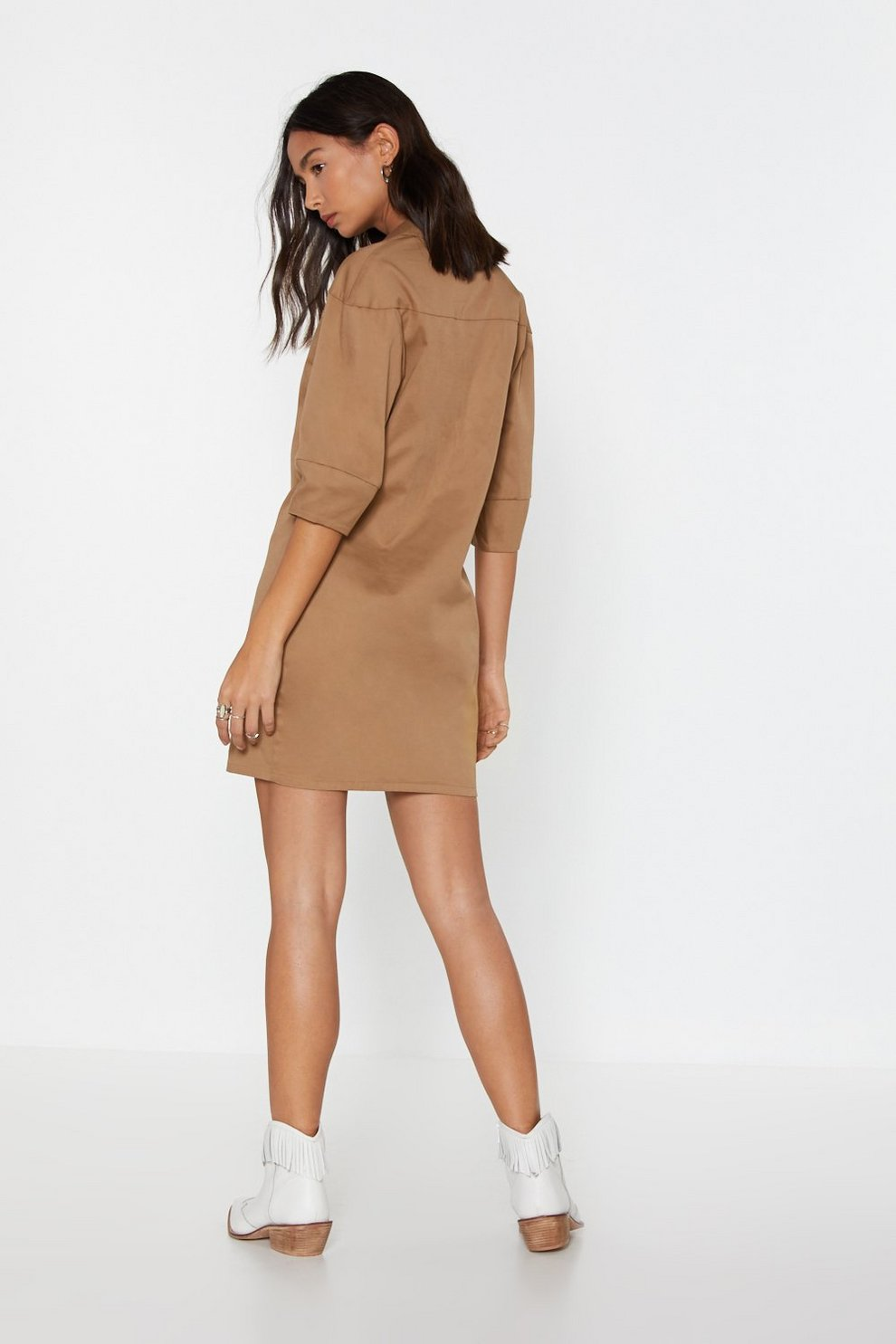 3eac40c1431 The String Theory Lace-Up Shirt Dress