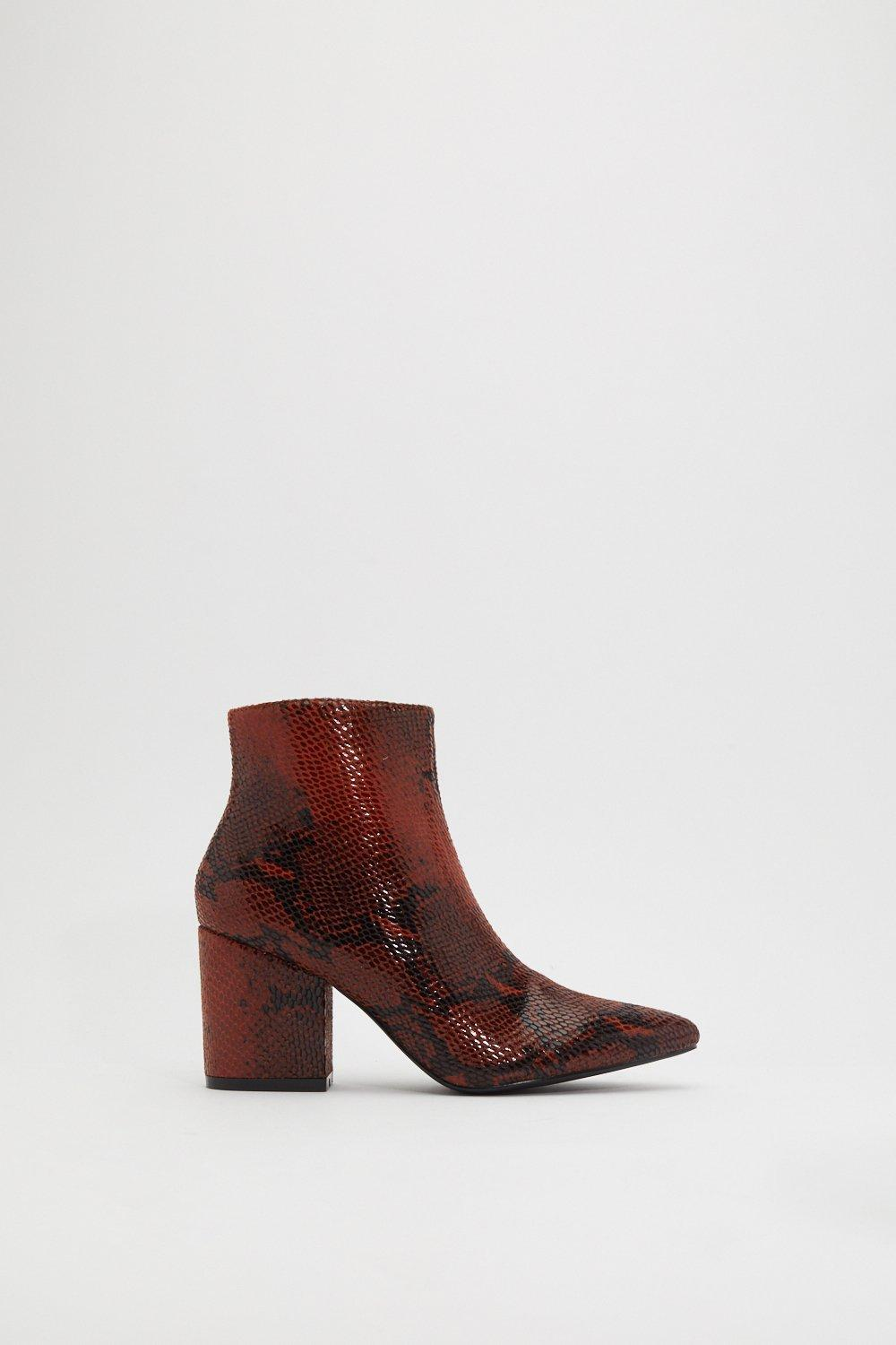 6d0f7d604051e Bite Me Snake Ankle Boots | Shop Clothes at Nasty Gal!