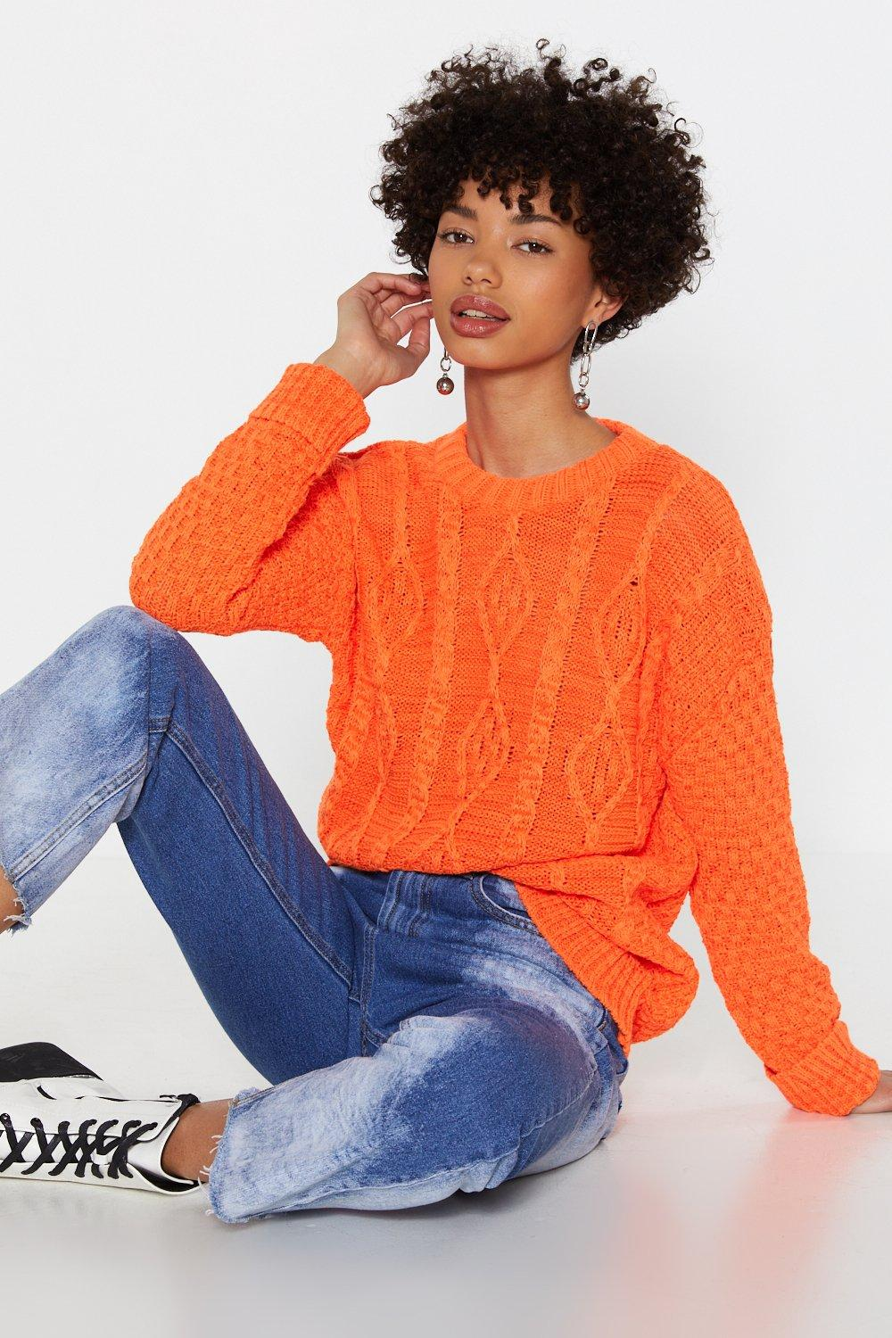 ad41cfcdddd Neon Cable Knit Jumper | Shop Clothes at Nasty Gal!