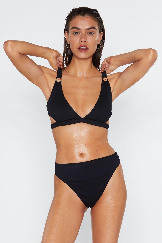 2880425e7b I m Button My Way Ribbed Bikini Set