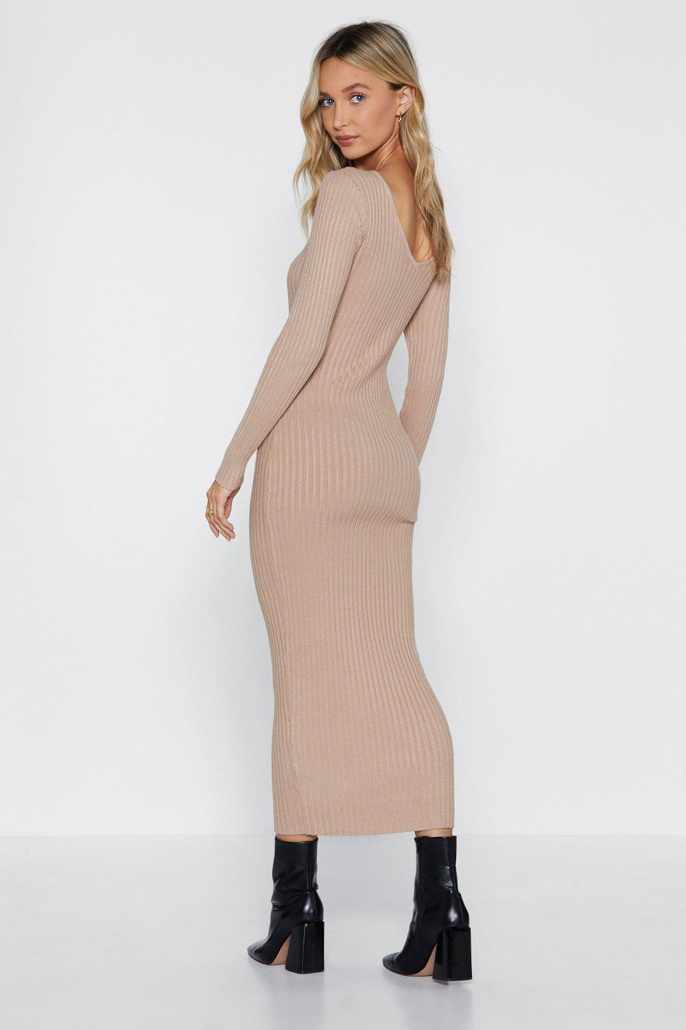 2c5ae7a51ae8 Hover to zoom · Womens Stone It's Knit the End of the World Midi Dress