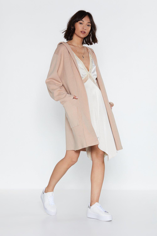 5c622957ad4 Womens Stone Little Knit Riding Hood Longline Cardigan
