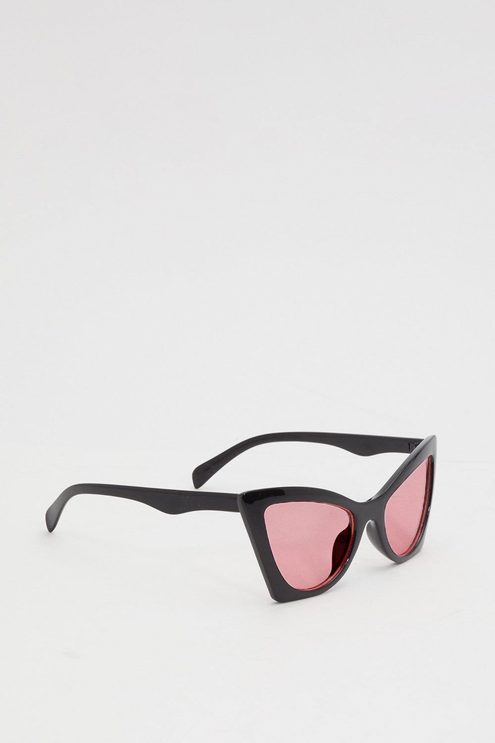 7ed3accec Womens Black The One Oversized Cat-Eye Sunglasses.