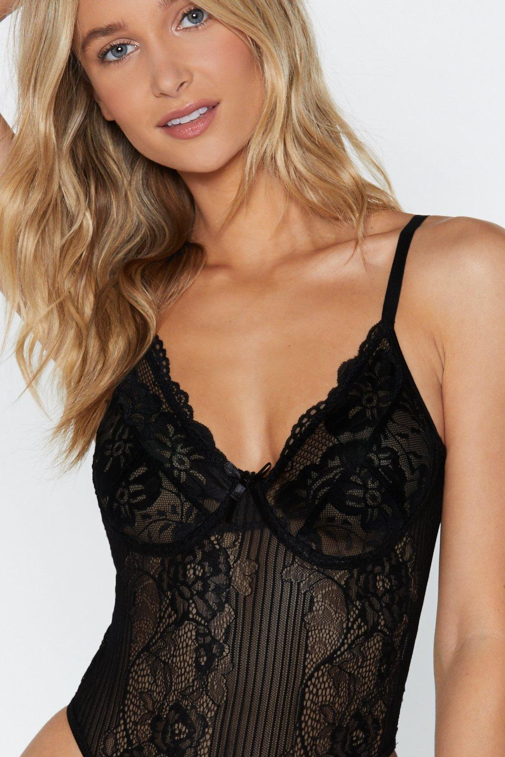 67e8f4029e8a Sheer Genius Lace Bodysuit | Shop Clothes at Nasty Gal!