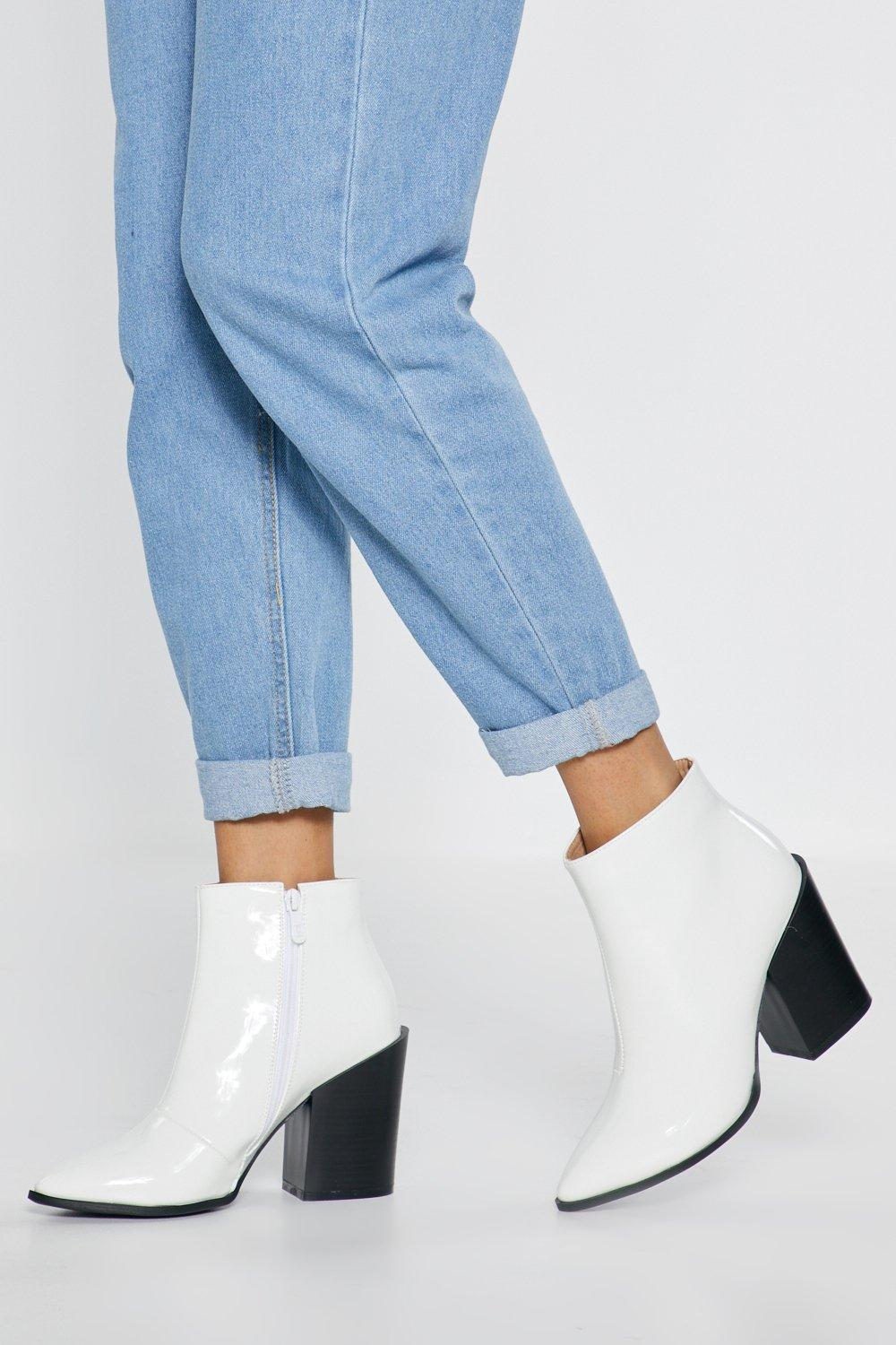 35d4850a81 What's Your Ankle Patent Heeled Boots | Shop Clothes at Nasty Gal!