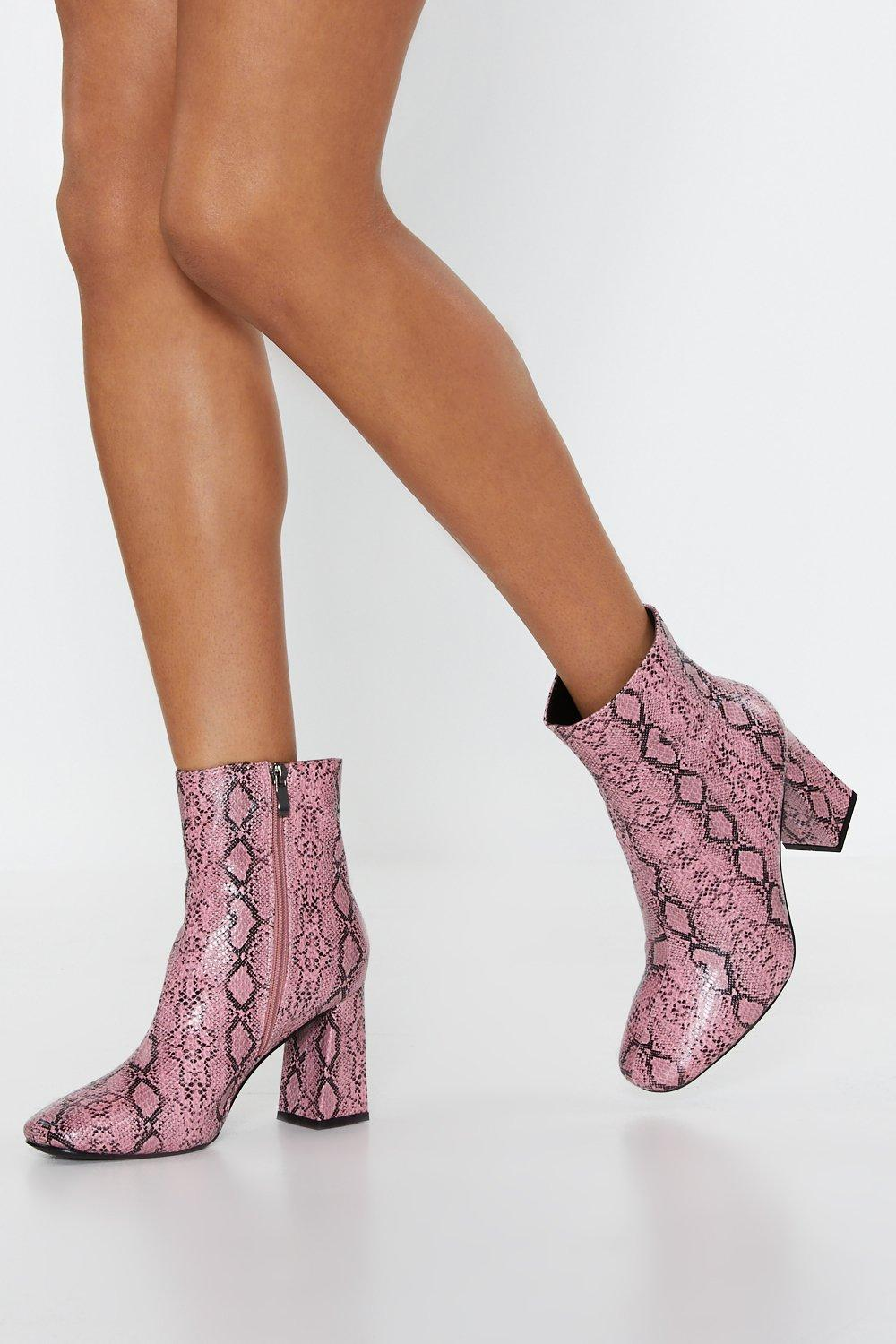 d468e163d594 Snake Your Way Faux Leather Ankle Boots | Shop Clothes at Nasty Gal!