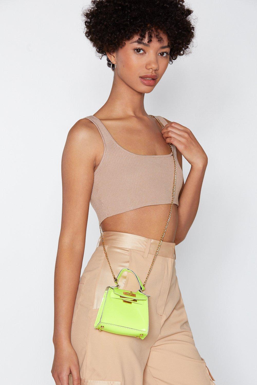 812998cd0cfc WANT Neon It Tonight Mini Crossbody Bag