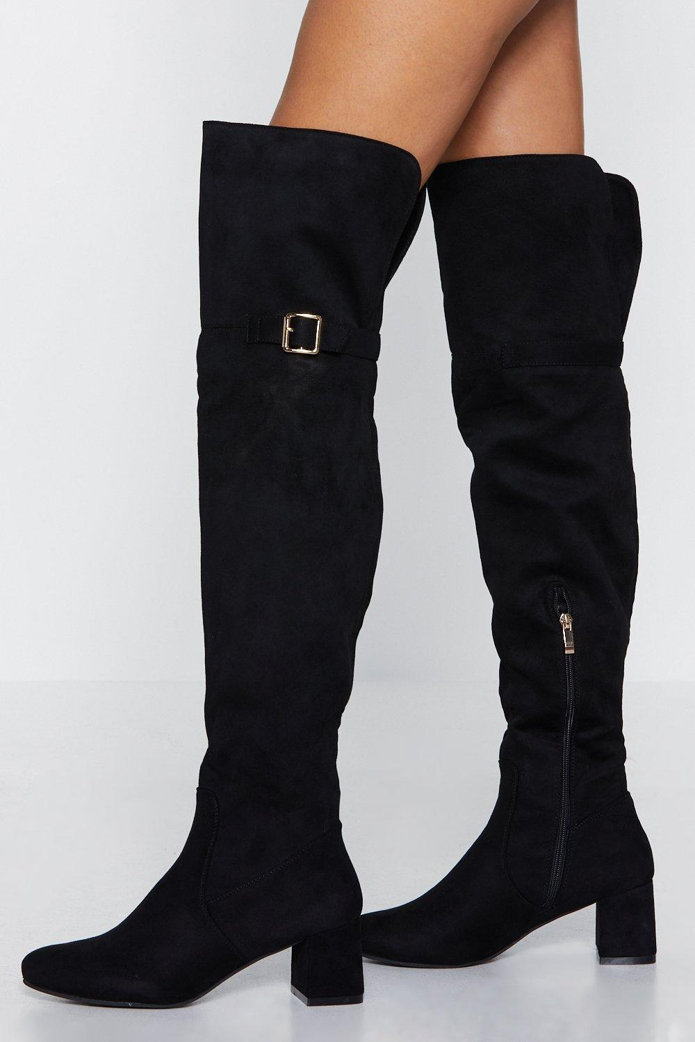 8cc8de72d4 Give Me Love Faux Suede Over-the-Knee Boot   Shop Clothes at Nasty Gal!