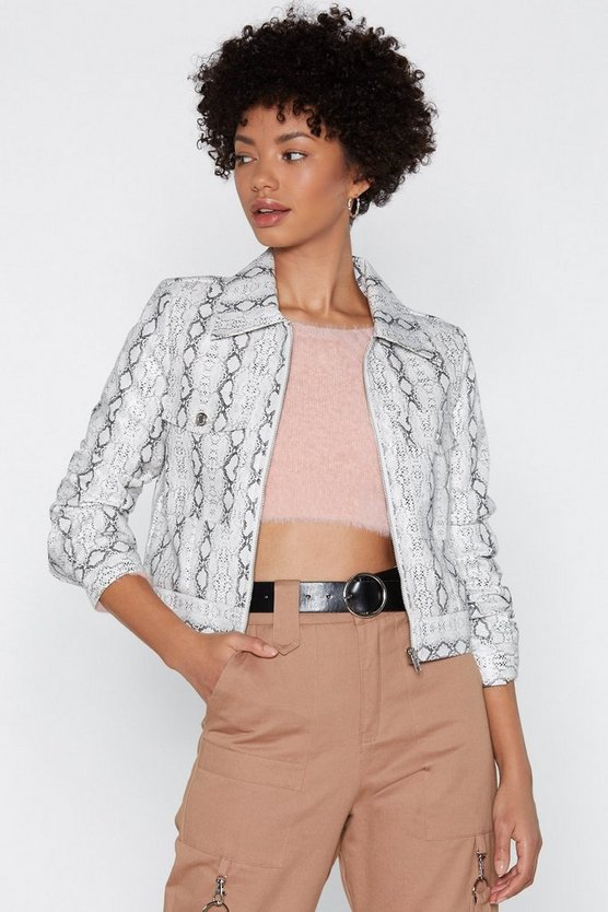 All Eyes Pyth On You Snake Jacket by Nasty Gal