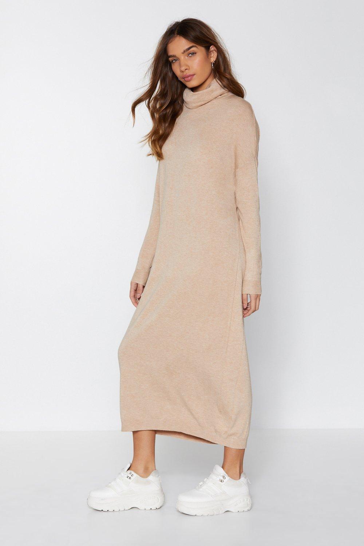 b3934410cc9 Womens Taupe Sweater Weather Maxi Dress