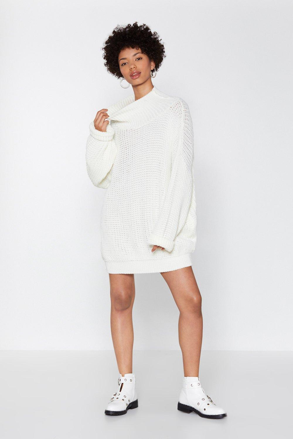 c2197c67b6ddcd Everything's Sweater in Knit Oversized Dress | Shop Clothes at Nasty ...