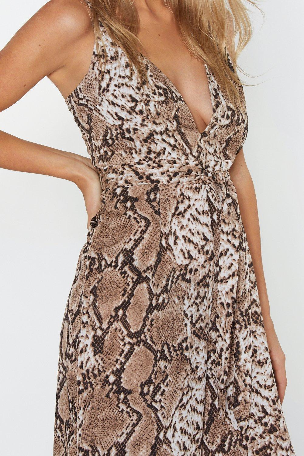 7bd2dc8319a Snake Care of Yourself Wide-Leg Jumpsuit
