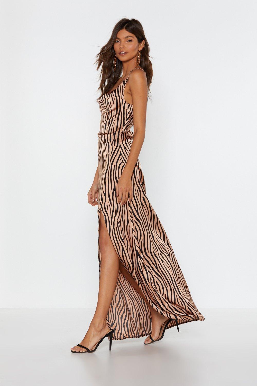 0988fcca359 It s Not All Black and White Zebra Dress