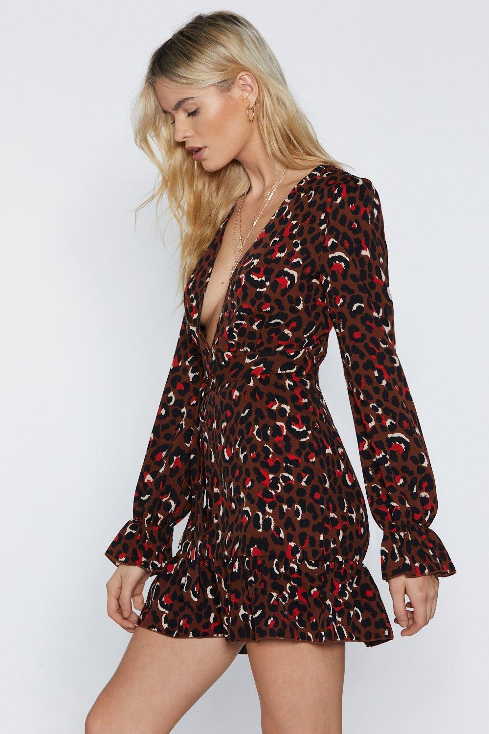 7d08392c4731d5 Leopard into First Place V-Neck Dress | Shop Clothes at Nasty Gal!