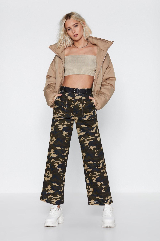 a9d712efe64931 Cargo About Your Business Camo Wide-Leg Pants   Shop Clothes at ...