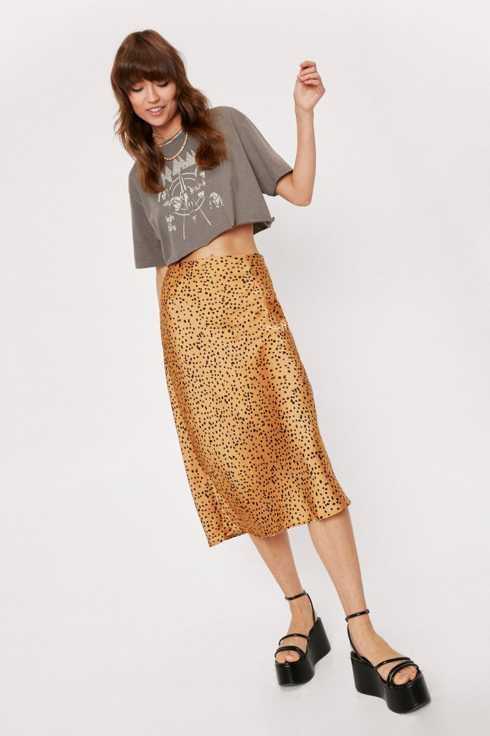 41f3b155cc Spotty Check Satin Midi Skirt | Shop Clothes at Nasty Gal!