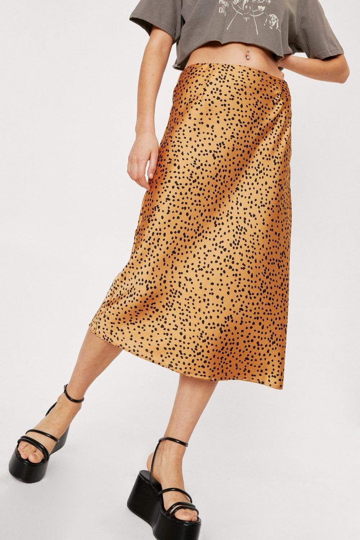 bba80ce5f8fa Spotty Check Satin Midi Skirt | Shop Clothes at Nasty Gal!