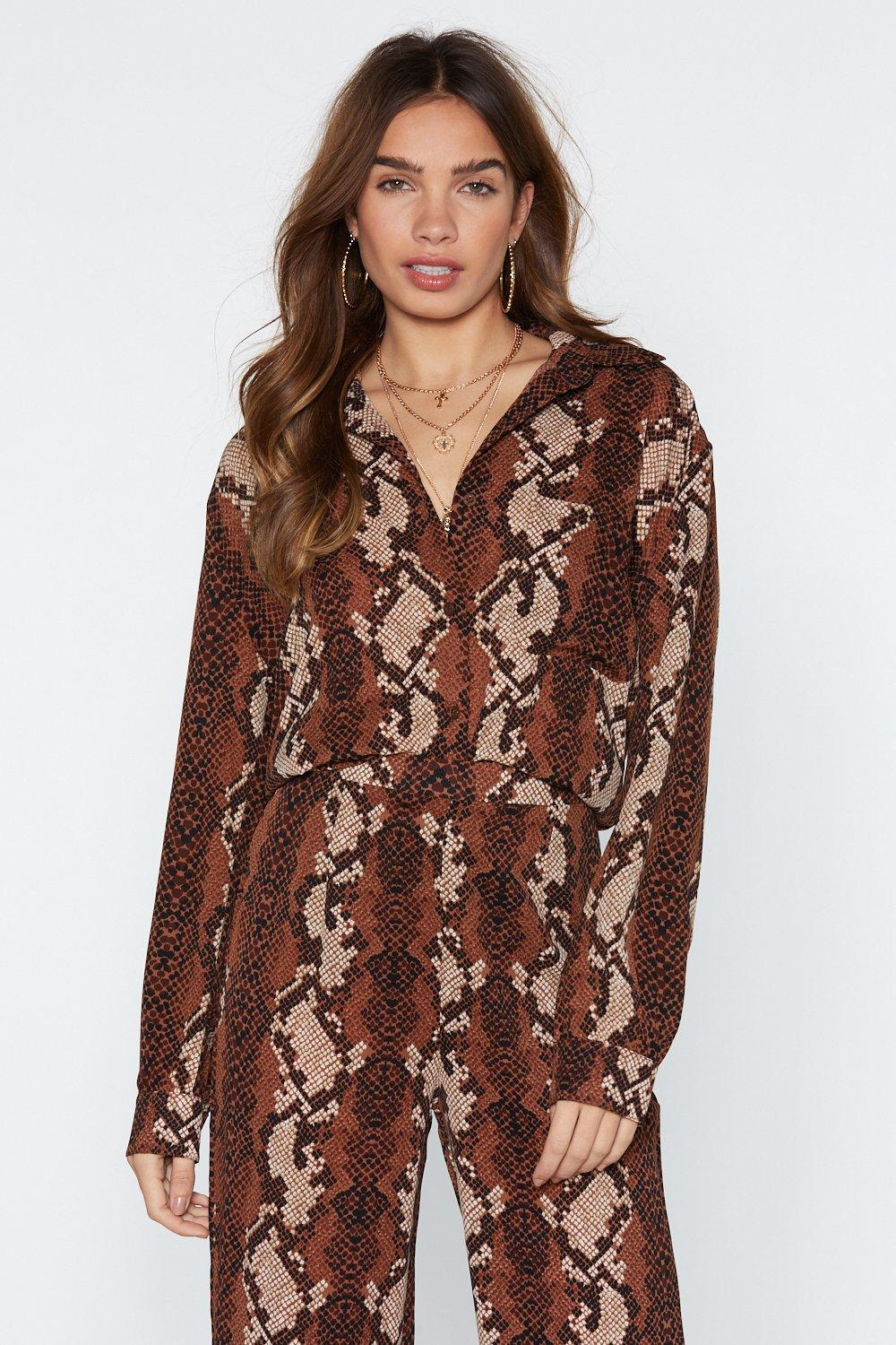 3eed29985 Snake Your Chances Relaxed Shirt   Shop Clothes at Nasty Gal!
