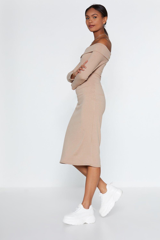 d77ba1c3f194 We Fold You So Off-the-Shoulder Dress   Shop Clothes at Nasty Gal!