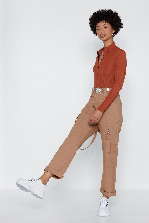 e46265b3 Womens Orange High Standards Zip Bodysuit. Hover to zoom