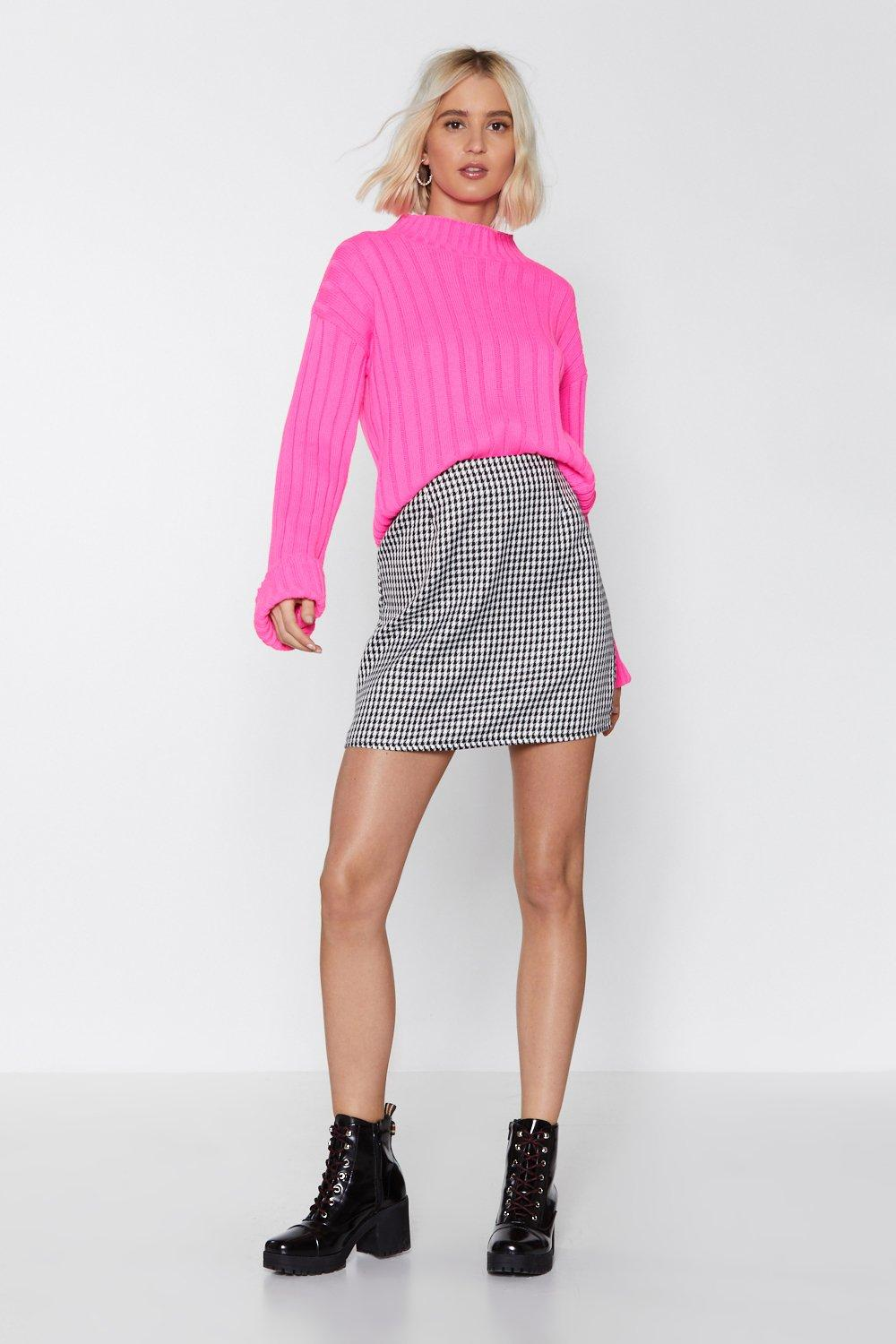 fb8370a94 Nowhere to Be Houndstooth Skirt | Shop Clothes at Nasty Gal!
