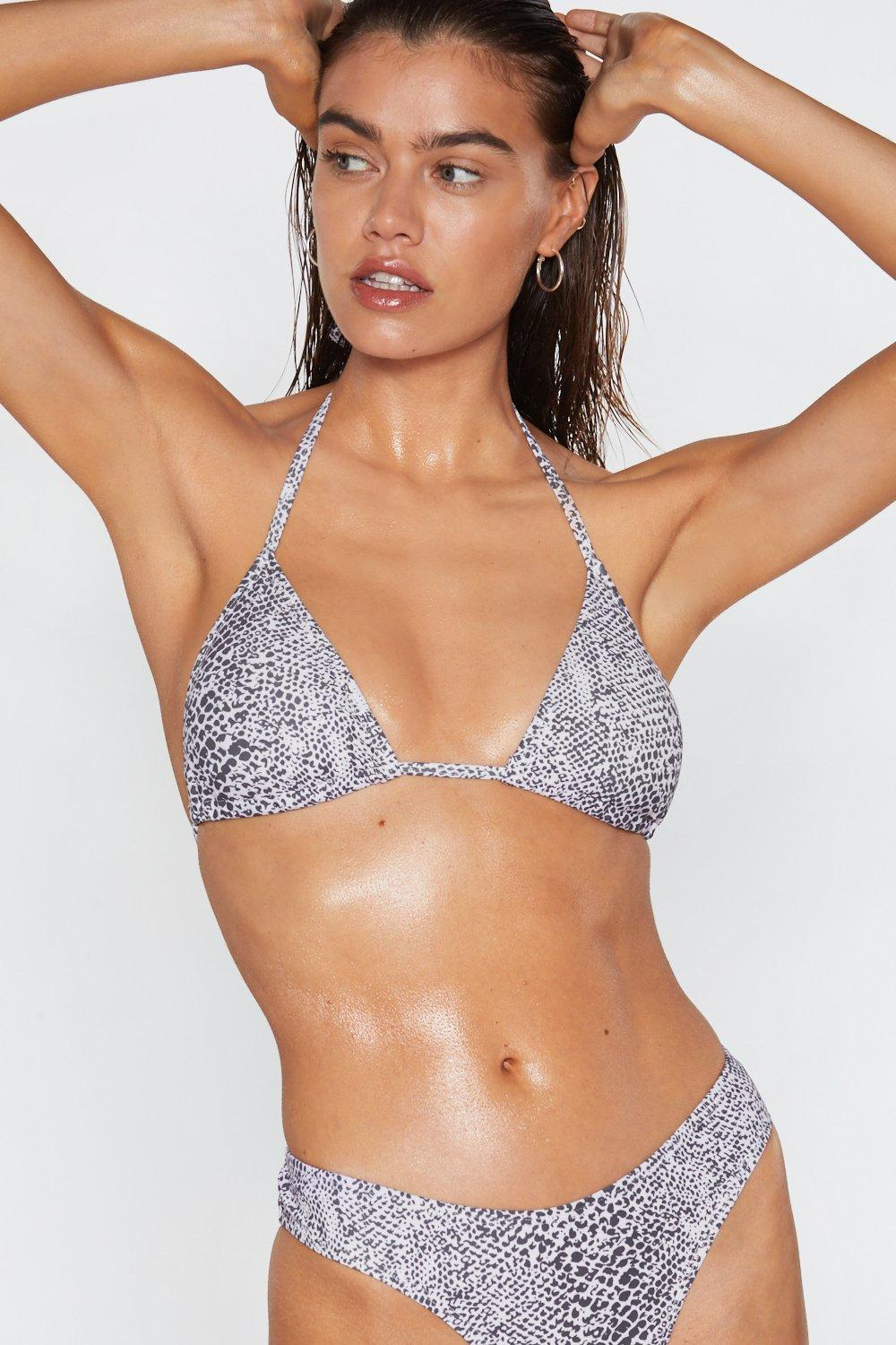 116d65c396 Snake No Mistake Triangle Bikini Top | Shop Clothes at Nasty Gal!