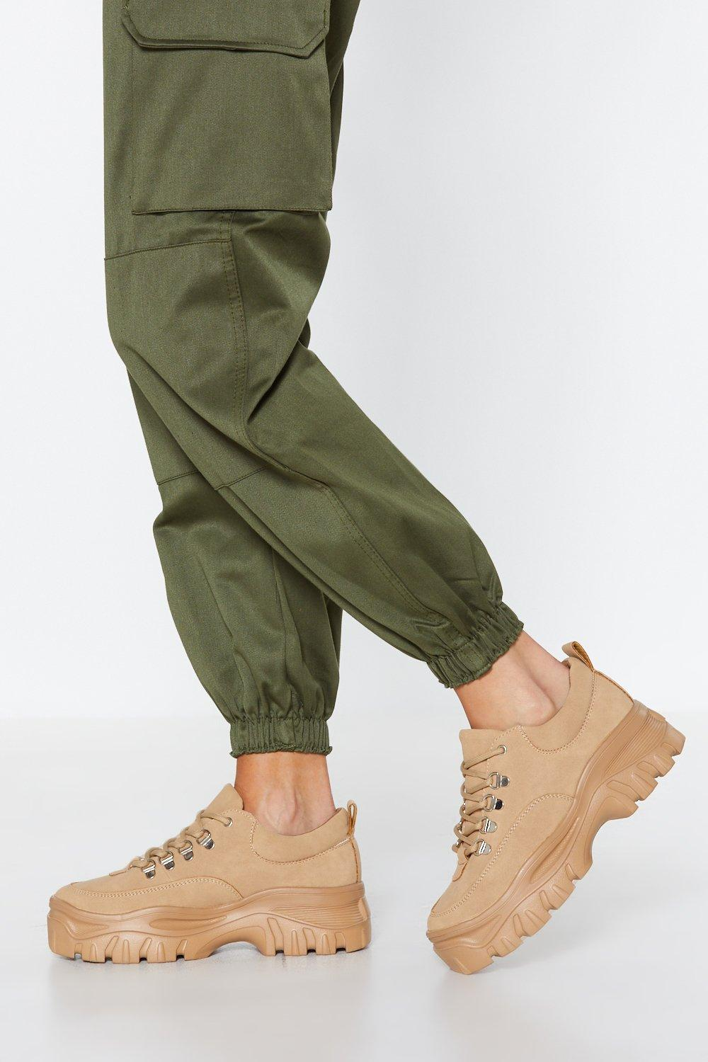 On The Run Chunky Sneaker by Nasty Gal