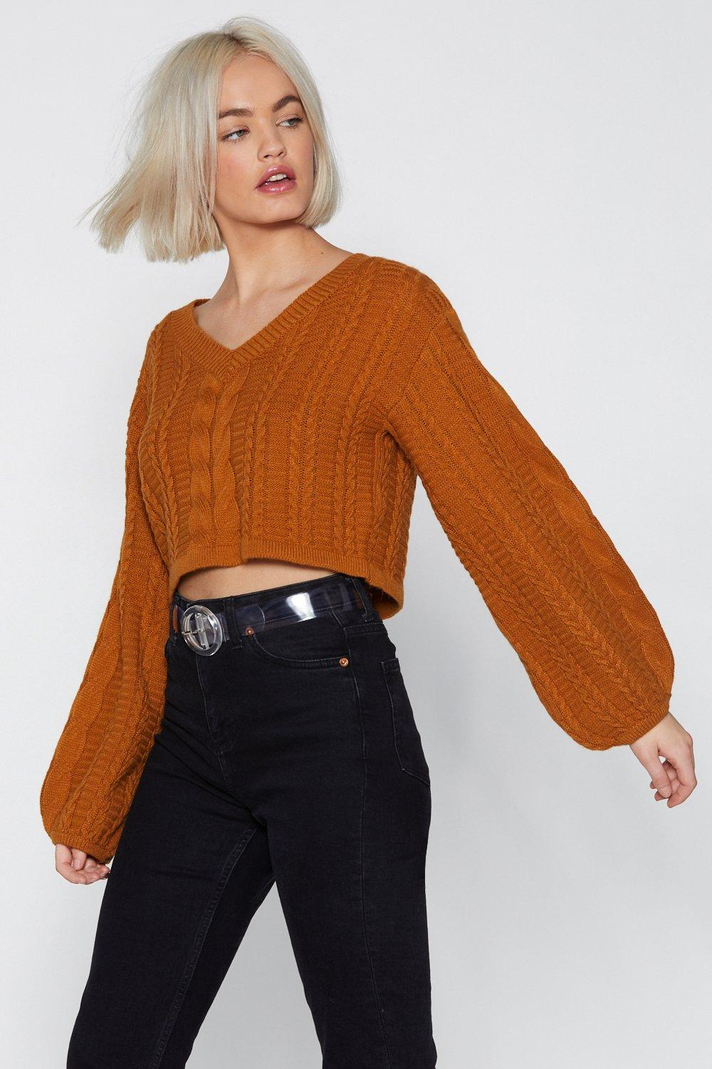87c6201eb3 Womens Caramel Knit s For the Best Cropped Sweater