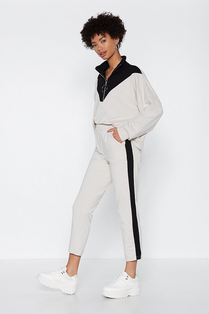 Pull Me Zip Neck Sweater and Joggers Set | Shop Clothes at Nasty Gal!