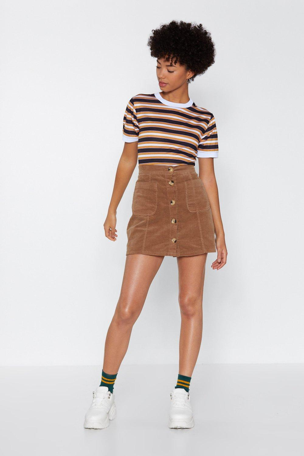 e9cab1b0b5 From Now Button Corduroy Skirt | Shop Clothes at Nasty Gal!