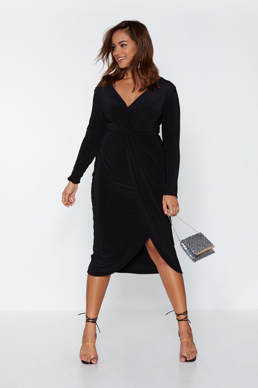 771f7106175 Womens Black Hold Me Close Midi Dress